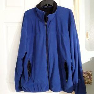 Lands End blue zippered fleece jacket